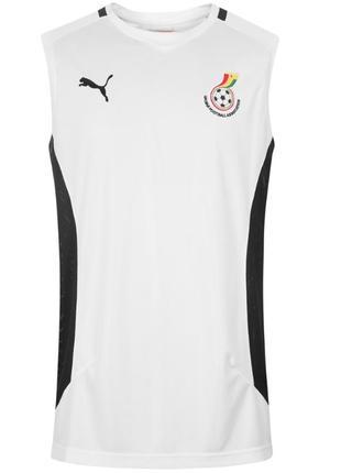 Оригинал майка мужская футбольная для тренировок белая puma размер м, l