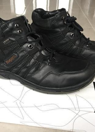 Мужские ботинки bugatti италия, 45р-р, 100% кожа, осень-зима