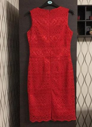 Красное ажурное платье lipsy, новое!4