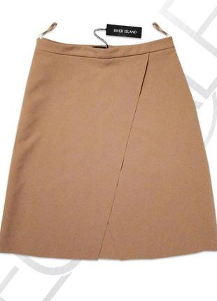 Трапециевидная юбка с запахом river island