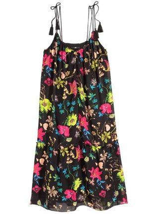 Красивое летнее платье, сарафан h&m conscious в цветочный принт.
