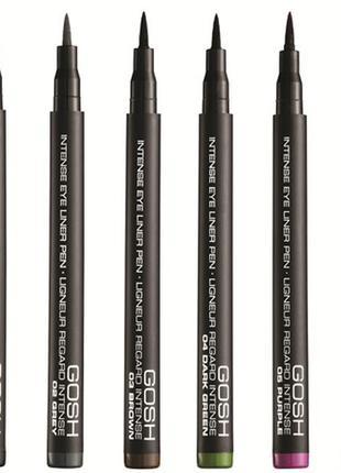Супер подводка gosh intense eye liner pen (черная)