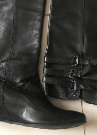 Сапоги кожаные демисезонные дорогой бренд max (англия) размер 41