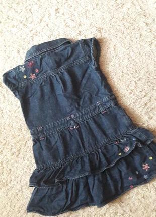 Джинсовое платье с вышивкой2 фото