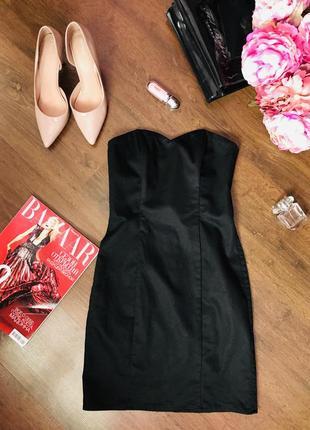 Маленькое черное платье с корсетом h&m