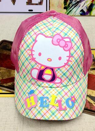 13-82 кепка hello kitty детская бейсболка панамка шапка