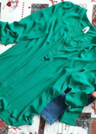 Изумрудная блуза премиум класса.