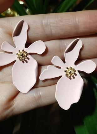 Серьги цветочек сережки цветок5 фото