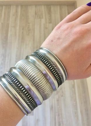 Массивный металический браслет h&m в бохо стиле, этно стиль