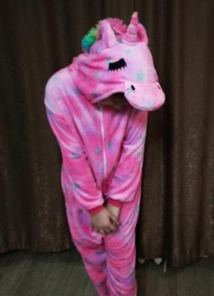 Кигуруми - теплая и стильная пижама единорог. размер s-m-l