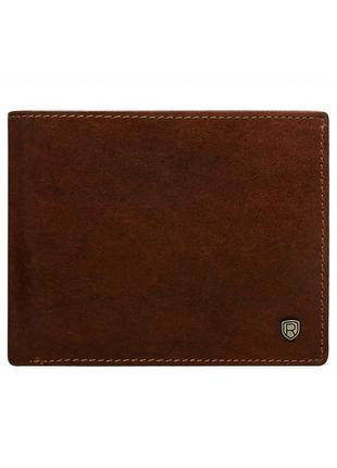 Мужское кожаное портмоне rovicky n992-rvt brown