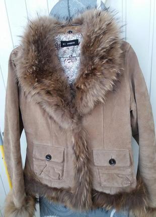 Курточка жакетного плана oakwood мех енота