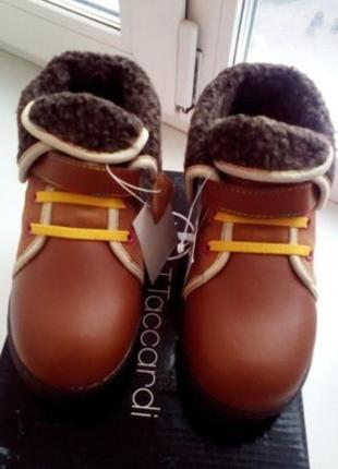 Унисекс. детские кожаные ботинки t. taccardi.2 фото