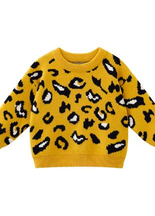 Новый детский свитер трендовый анималистический принт8