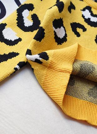 Новый детский свитер трендовый анималистический принт4