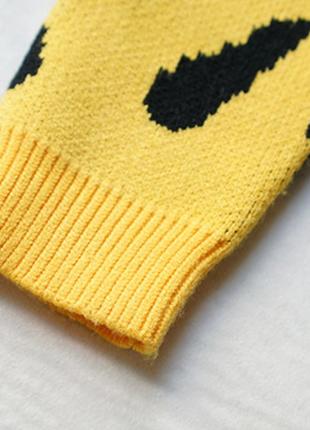 Новый детский свитер трендовый анималистический принт6