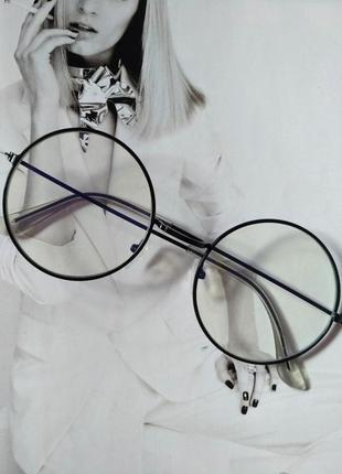 Круглые имиджевые очки тишейды с анти блик
