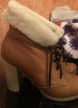 Полностью натуральные зимние ботинки