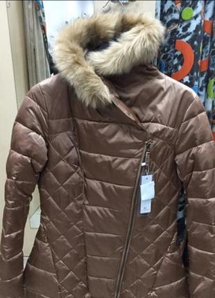 Теплая куртка итальянского бренда.