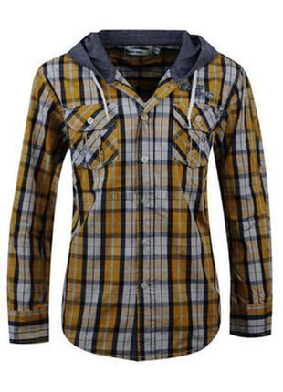 Рубашки с капюшоном для мальчиков венгрия 134-146 см