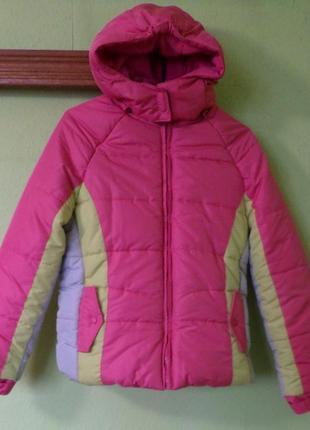 Куртка зимняя теплая на флисе с капюшоном на молнии athletech из сша