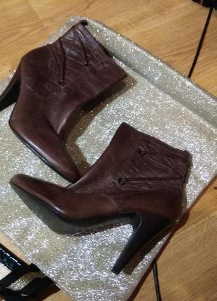 Кожаные деми ботинки 26.5см испания