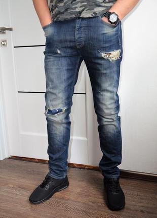 Стильные джинсы benetton ® slim jeans  размер 32