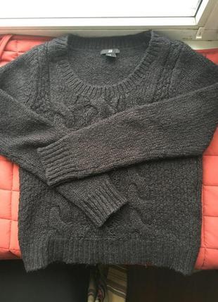 Шерстянной свитер h&m