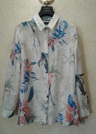 🍒невесомая блуза в цветочный принт хлопок шелк🍒