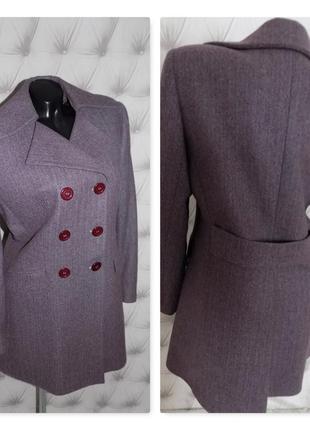 80 % шерсть, шикарное пальто миди