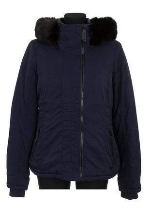 Куртка, женская, зимняя, короткая, с капюшоном, bench