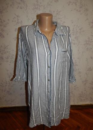 Love to lounge халат-рубашка вискозный р14-16