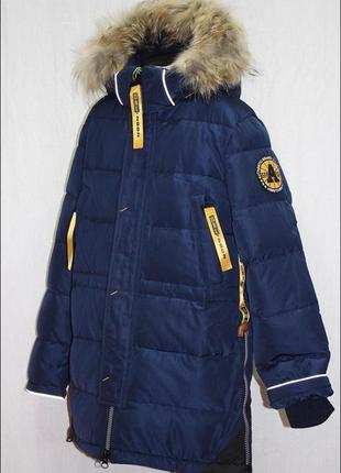 Зимняя куртка для мальчика donilo zz 4624 б синяя куртка для мальчика синего цвета.