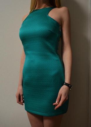 Приталенное мини платье mango размер m