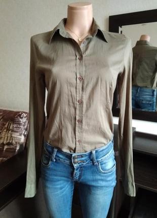Короткая рубашка хаки frankie morello