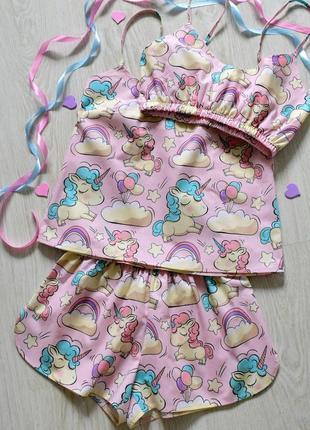 Красивенная хлопковая пижама с единорогами