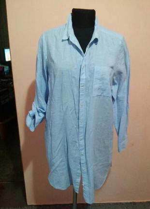 Удлиненная катоновая рубашка раз.18