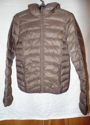 Куртка пуховик натуральный пух atmosphere размер s или 8 без