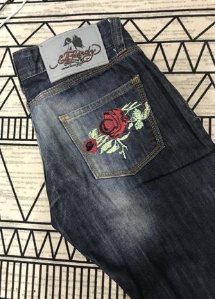 Шикарные джинсы ed hardy! деним, брюки