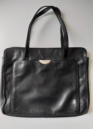 Легкая итальянская кожаная сумка с отделением для ноутбука