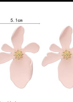 Серьги цветочек сережки цветок4 фото