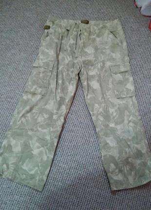 Суперские катоновые брюки с карманами раз.36