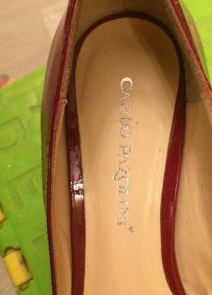 Туфли вишневого цвета carlo pazolini состояние отличное