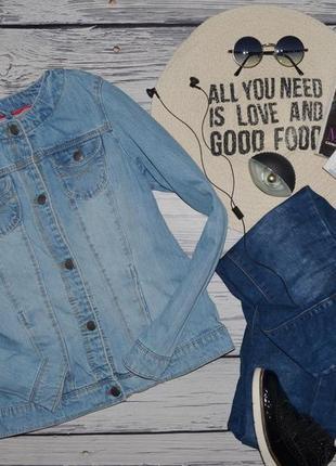 14 лет 156 см обалденный фирменный пиджак джинсовый джинсовая курточка с манжетами