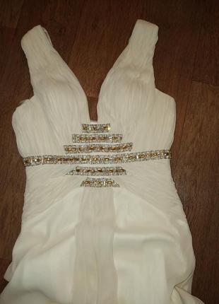 Свадебное вечернее выпускное платье бисер камни бренд oksana mukha 707fed522af03