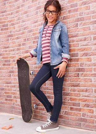 Tреггинсы трикотажные с имитацией под джинс от tcm германия