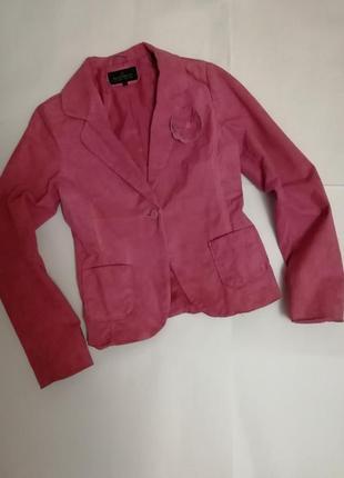 Пиджак кожанный naf-naf, размер 38