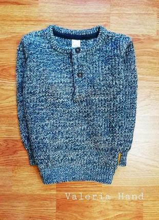 Отменный мягкий стильный актуальный свитер - джемпер c&a - возраст 1,5-2 года
