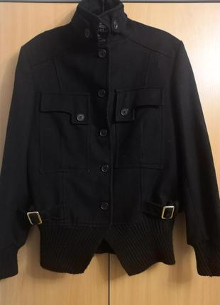 Кашемировое полупальто-куртка koe made in italy, размер 46