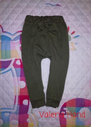 Тонкие комфортные мягкие спортивные штаны - брюки - треники - рост 74-80 см